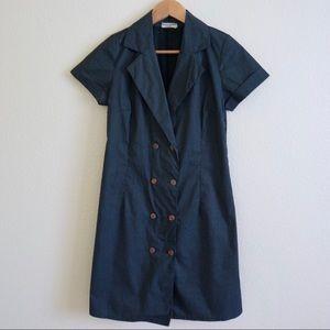 Zara Basic Double Button Front Dress
